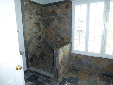 Copper Rust Slate Tile Bathroom copper rust slate mosaic tile 4 in